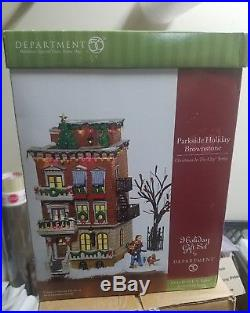 Dept 56 Christmas in the City Parkside Holiday Brownstone Set #58947 N BOX