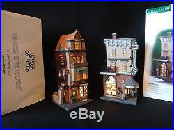 Dept 56 Christmas in the City Parkview Hospital, Foster Pharmacy, Plus 3 more