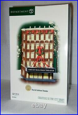 Dept 56 Christmas in the City, The Ed Sullivan Theater, New in Box, 2004, CBS