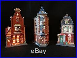 Dept 56 Christmas in the City Uptown Shop Set of 3 retired 1996, see listing