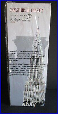 Dept 56 Chrysler Building 4030342 New In Box Christmas In The City