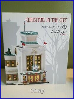 Dept 56 Deerfield Airport 4030344 Christmas In The City Series Retired