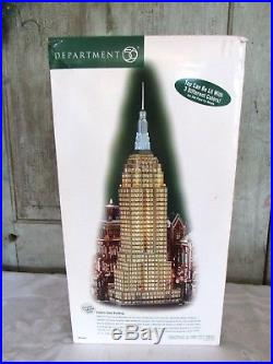 Dept 56 EMPIRE STATE BUILDING 59207 Christmas in the City w box & paperwork