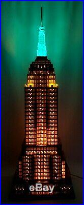 Dept. 56 Empire State Building Christmas In The City 59207 3 Color Light Rare