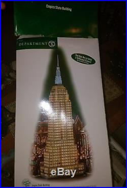 Dept 56 Empire State Building Christmas in the City NEW in Box Never Displayed