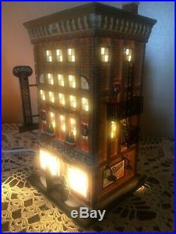 Dept 56 Ferrara Bakery & Cafe Christmas Snow Village Lighted House 59272