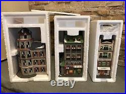 Dept 56 NEW CIC Lot of 3 TOY SHOP & PET STORE/TOWER CAFE/BAKERY #65129
