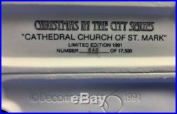 Dept 56 St Mark's Cathedral Low #543/17500 Limited Edition NEVER DISPLAYED Mint