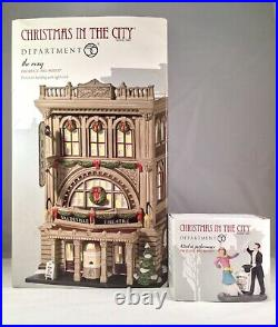 Dept 56 THE ROXY + 42nd ST PERFORMANCE Lot of 2 CHRISTMAS IN THE CITY D56 NEW