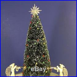 Dept 56 VILLAGE ANIMATED ROCKEFELLER PLAZA SKATING RINK Christmas in the City
