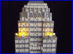 Empire State Building Dept 56 Christmas in the City Series 59207 retired 24 inch