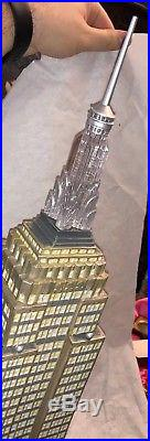 Huge Department Dept 56 Empire State Building Christmas In The City Skyscraper