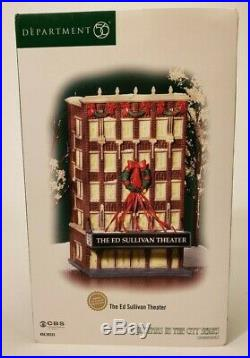 NEW Dept 56 Christmas in the City (CIC) Series THE ED SULLIVAN THEATER #59233