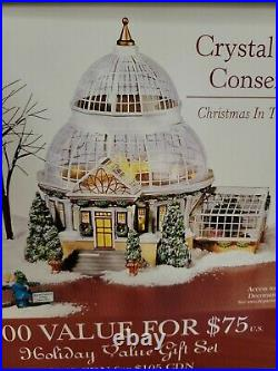 NIB Dept. 56 Christmas in the City CRYSTAL GARDENS CONSERVATORY #59219 56.59219