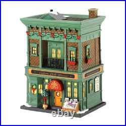 New Retired Dept 56 Fulton Fish House #4030345 Christmas In The City Village