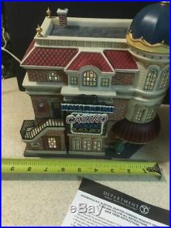 RARE Dept. 56 Christmas In The City ROYAL FLUSH CASINO -#59244 MINT IN BOX