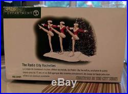 Retired-Mint- Department 56- Radio City Music Hall & 2 sets of Rockettes