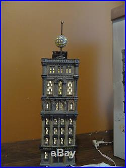 VIDEO Dept 56 55510 Times Square Tower Happy New Year Animated Ball Drop Village