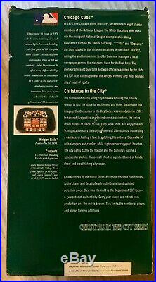 Wrigley Field Christmas in The City Series (Department 56) Read Description